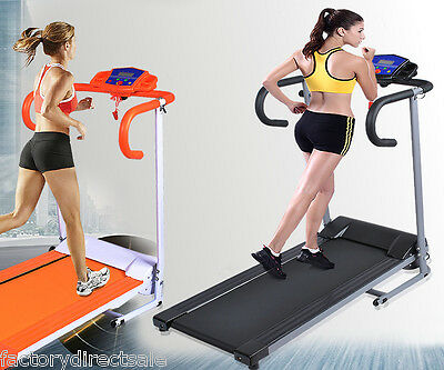 New 1100W Folding Electric Treadmill Portable Motorized Running Machine Black