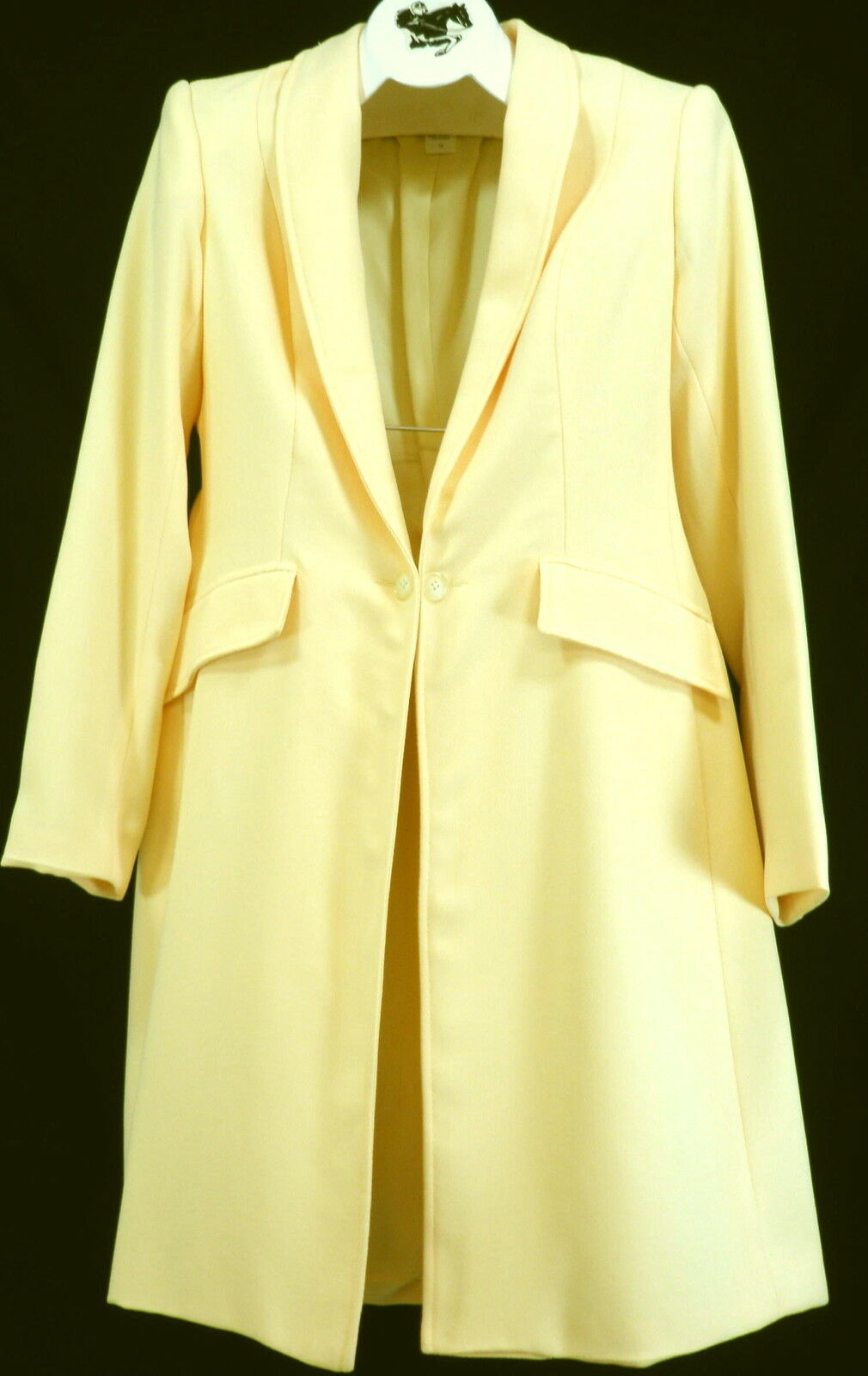 Reed Hill Ladies Saddleseat Day Coat Lt Yellow Herringbone Poly size 16 - USA