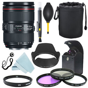 Canon EF 24-105mm f/4L IS II USM Lens + Filter Kit + Accessory kit 742880773369
