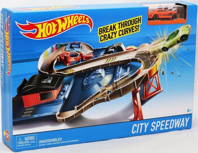 Mattel DTN00 Hot Wheels Hot Wheels City Speedway Rennbahn TV Werbung NEU / OVP