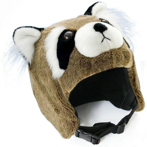 Crazeeheads Plush Benny The Bandit Raccoon Animal Bike Winter Ski Helmet Cover