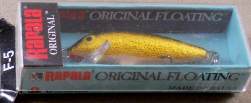 F-5 G Balsa Wood Crankbait Rapala Original Floating Minnow Trout Fishing Lure