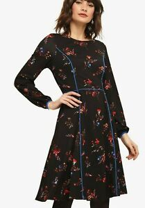 Phase-Eight-Multi-Floral-Cocktail-Midi-Long-Sleeve-Evening-Dress-UK-6-to-20