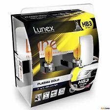 2x HB3 Lunex PLASMA GOLD 9005 12V 65W Car Headlight Halogen Bulbs P20d 2800K