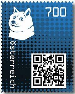 Crypto-Stamp-2-0-Doge-BLAU-im-Folder-Postfrisch-MNH-4-Bilder-gt