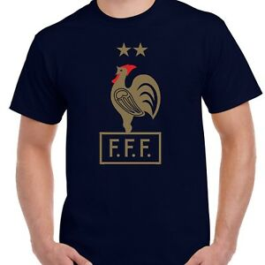 b3bf5887d93 France Football 2 Stars T-Shirt - Retro French World Cup Champions ...