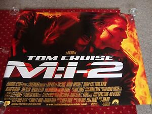 MISSION IMPOSSIBLE 2 starring TOM CRUISE    FILM POSTER 102 x 77 cms - <span itemprop=availableAtOrFrom>Derby, United Kingdom</span> - MISSION IMPOSSIBLE 2 starring TOM CRUISE    FILM POSTER 102 x 77 cms - Derby, United Kingdom