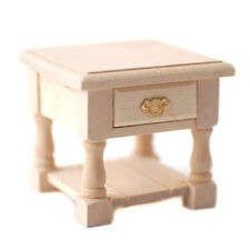 Dollhouse Miniature 1:12 Scale Natural Wood Round Table #D9158-30