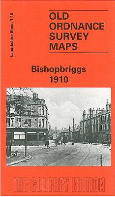 OLD ORDNANCE SURVEY MAP GLASGOW QUEENS PARK 1910 BATTLEFIELD CROSSHILL SHAWLANDS