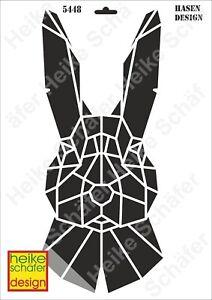Schablone-Stencil-A3-421-5448-Hasen-Design-Neu-Heike-Schaefer-Design