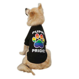 Dog-Tee-Rainbow-Shirt-Casual-Canine-Puppy-Pride-Choose-Size