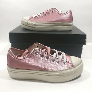 d4f71b4ed4ace Image is loading Womens-Converse-Ctas-Sequin-Platform-Distressed-Ox-559045C-