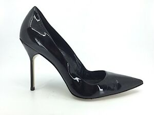 f7c166c7ecfa MANOLO BLAHNIK Black Patent Leather high heel pump pointed toe Shoes ...