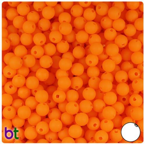 Color choice BeadTin Matte 6mm Round Plastic Craft Beads 500pcs