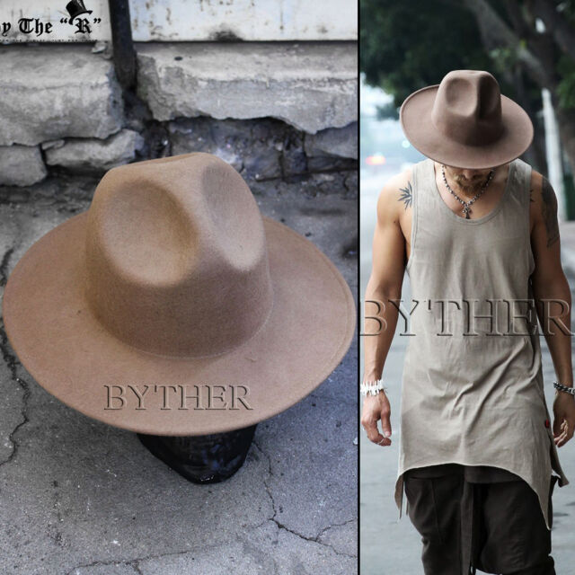 3f40ec9a80465 ByTheR Men's Fashion Modern Classic Wool Felt Chic Mountain Fedora Casual  Hat