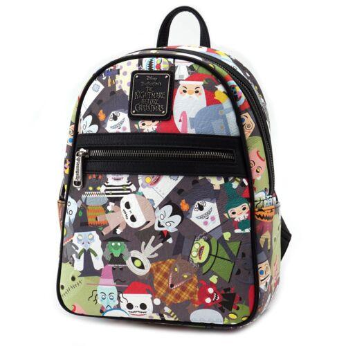 Mini Faux Backpack Loungefly Wdbk0505 Christmas Before Nightmare Fur Chibi fxgIqZC