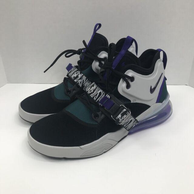 official photos 3f04d 5d0ac New Nike Air Force 270 Men's Size 9 Max AH6772-005 Black Grey Court Purple  Shoes