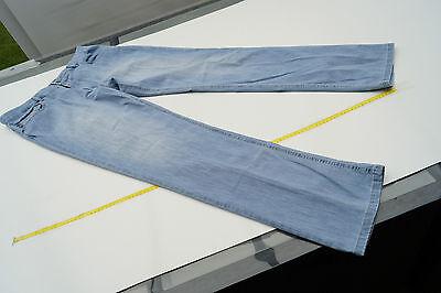 BRAX Cooper Herren Stretch Jeans Hose Gr.52 W36 L34 stone wash hellblau dünn #32