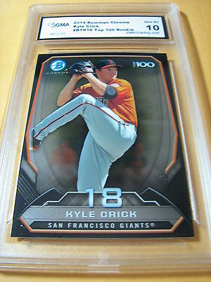Baseball Cards Competent Kyle Crick Giants 2014 Bowman Chrome Top 100 Rookie Rc # Ctp63 Graded 10 Sufficient Supply
