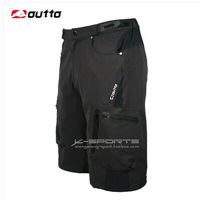 Men's Black Cycling Mountain Bike / Bicycle Shorts Half Pants(No padding)