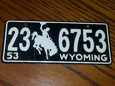 1953 Wyoming State License Plate