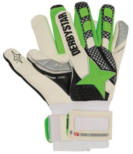 Derbystar APS Evolution I Torwarthandschuhe weiß-grün-schwarz NEU 93392