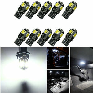 10x-Canbus-T10-194-168-W5W-5730-8-LED-SMD-White-Car-Side-Wedge-Light-Lamp-10PCS