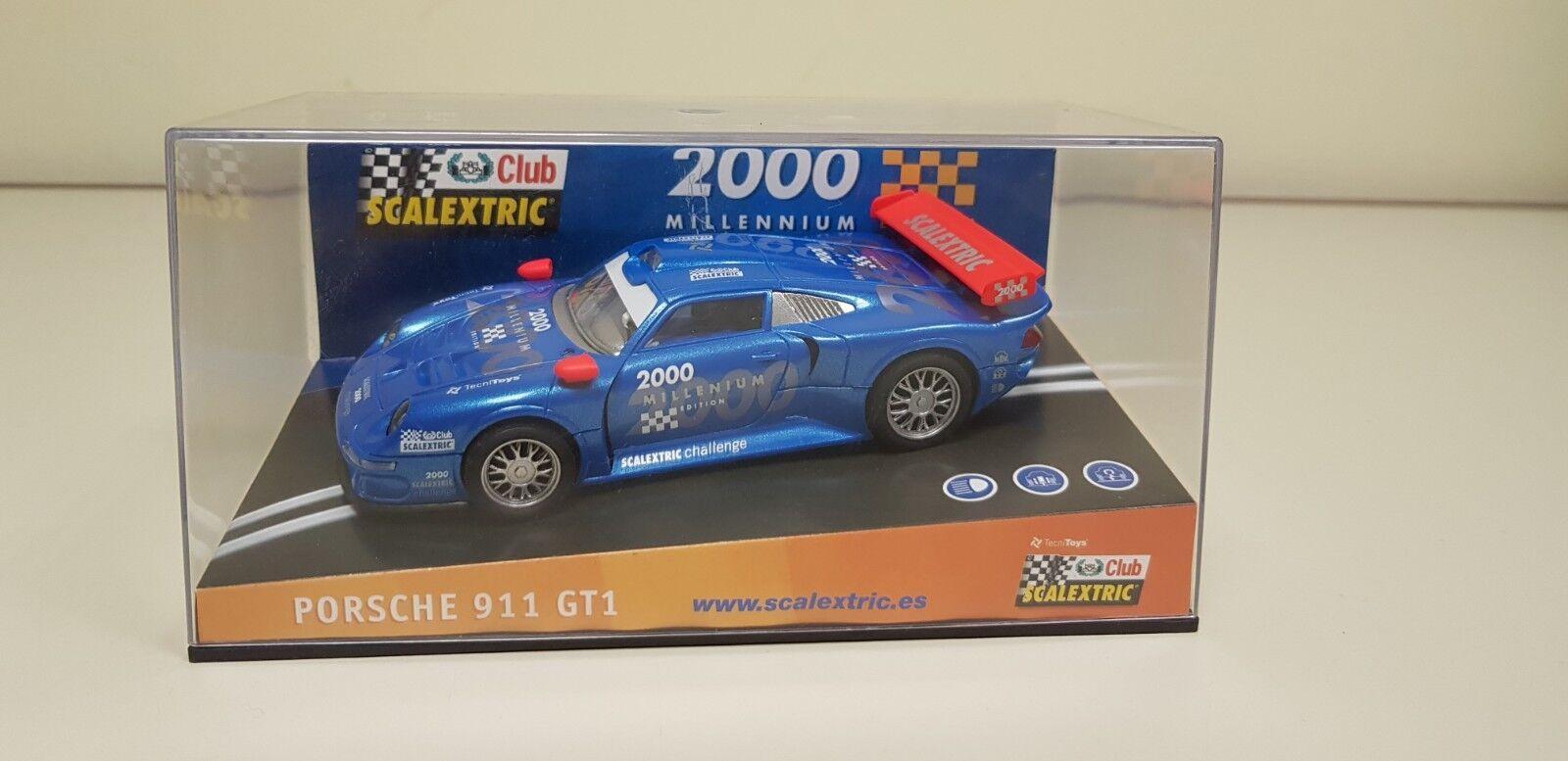 Kinderrennbahnen Cheap Sale Scalextric Karosserie Porsche 911 Gt1 #6 Mint