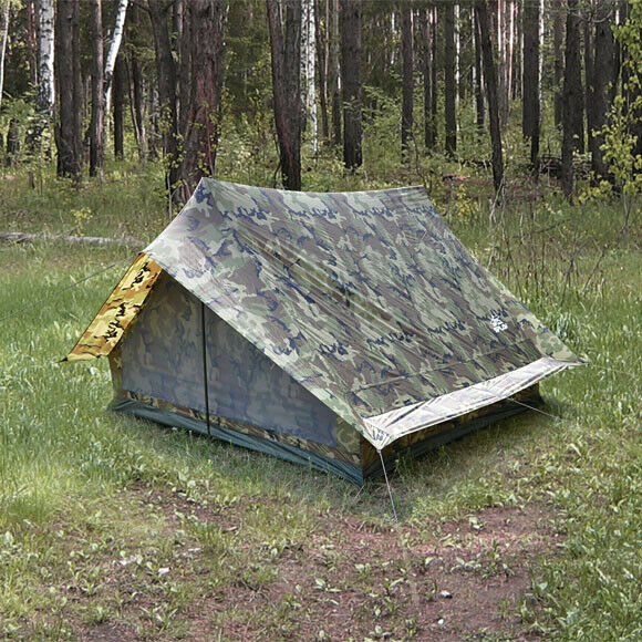 Light Classical Tent for 4 Person Skif 4 Woodland Camo  Khaki Tent Waterproof