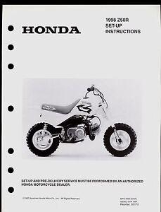 1998 honda z50r set up instruction manual ebay rh ebay com Honda XR75 Honda CT70