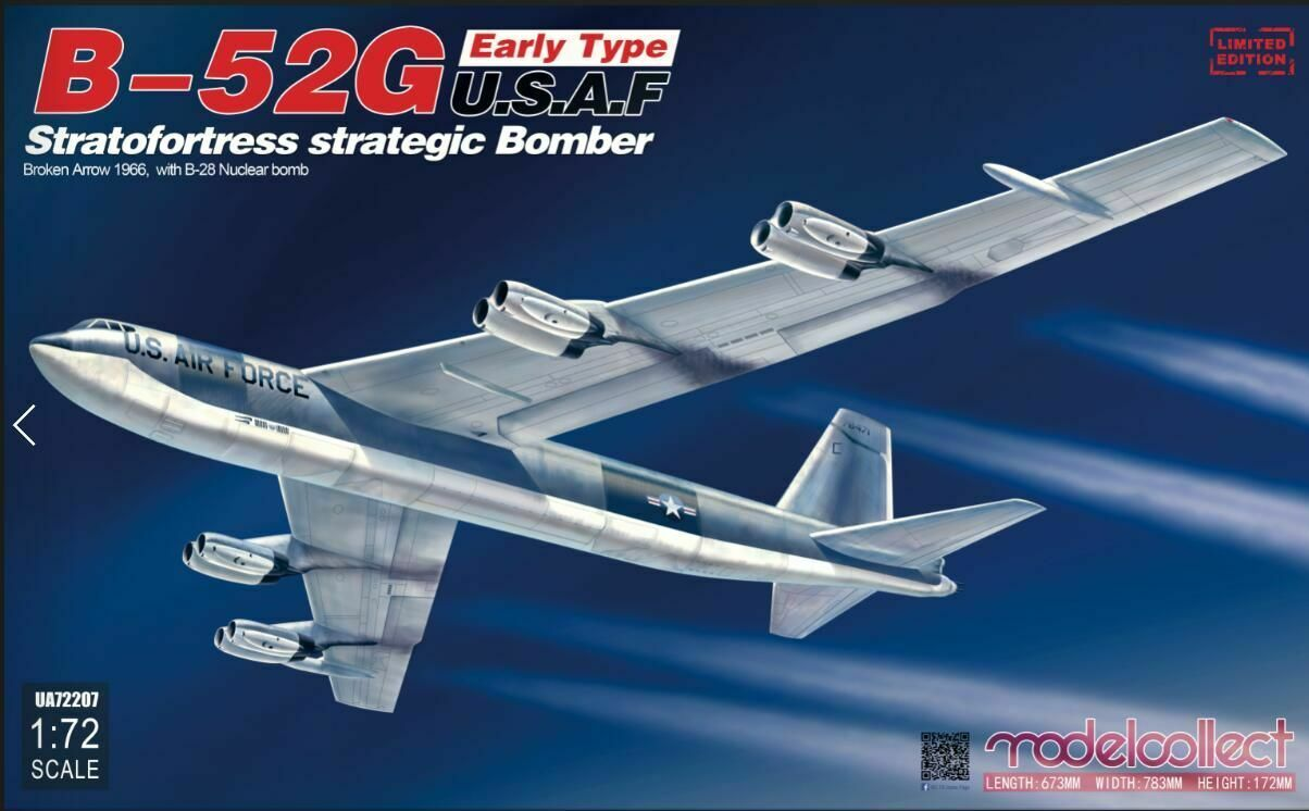 Modelcollect UA72207 - 1:72 B-52G Early Tipo U. S.A.F Stratofortress Strategic