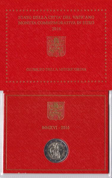 2 Euro Commémorative Vatican 2016. Jubilé De La Miséricorde. Vente En Ligne Du Dernier ModèLe En 2019 50%