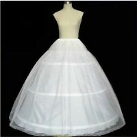 New A-line White 3-Hoop 1 layer Wedding Bridal Petticoat Crinoline Underskirt