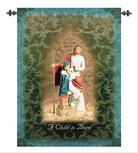 Willow Tree The Christmas Story Nativity Tapestry Wall Hanging