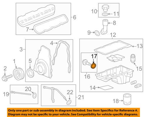 GM OEM Engine Parts-Drain Plug Seal 12616850