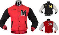 Herren College Jacke Baseball Sweatjacke Pullover Retro Oldschool