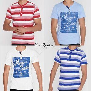 Da-Uomo-T-Shirt-Pierre-Cardin-Top-Tee-Manica-Corta-Taglia-M-L-XL-XXL-Medio-Grande