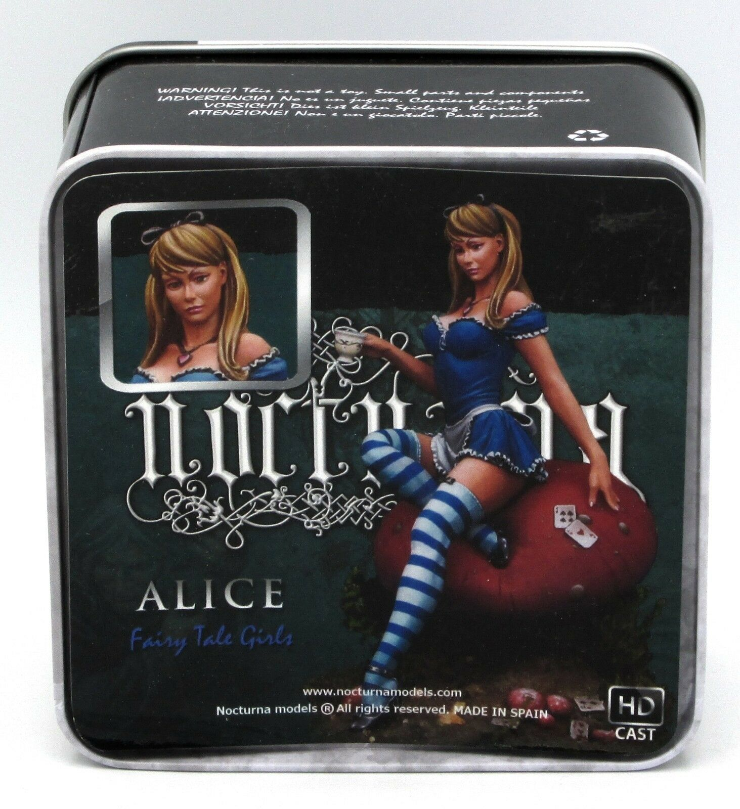 Nocturna FTG01 Alice (80mm) Fairy Tale Girls Female on Mushroom with Tea Cup NIB