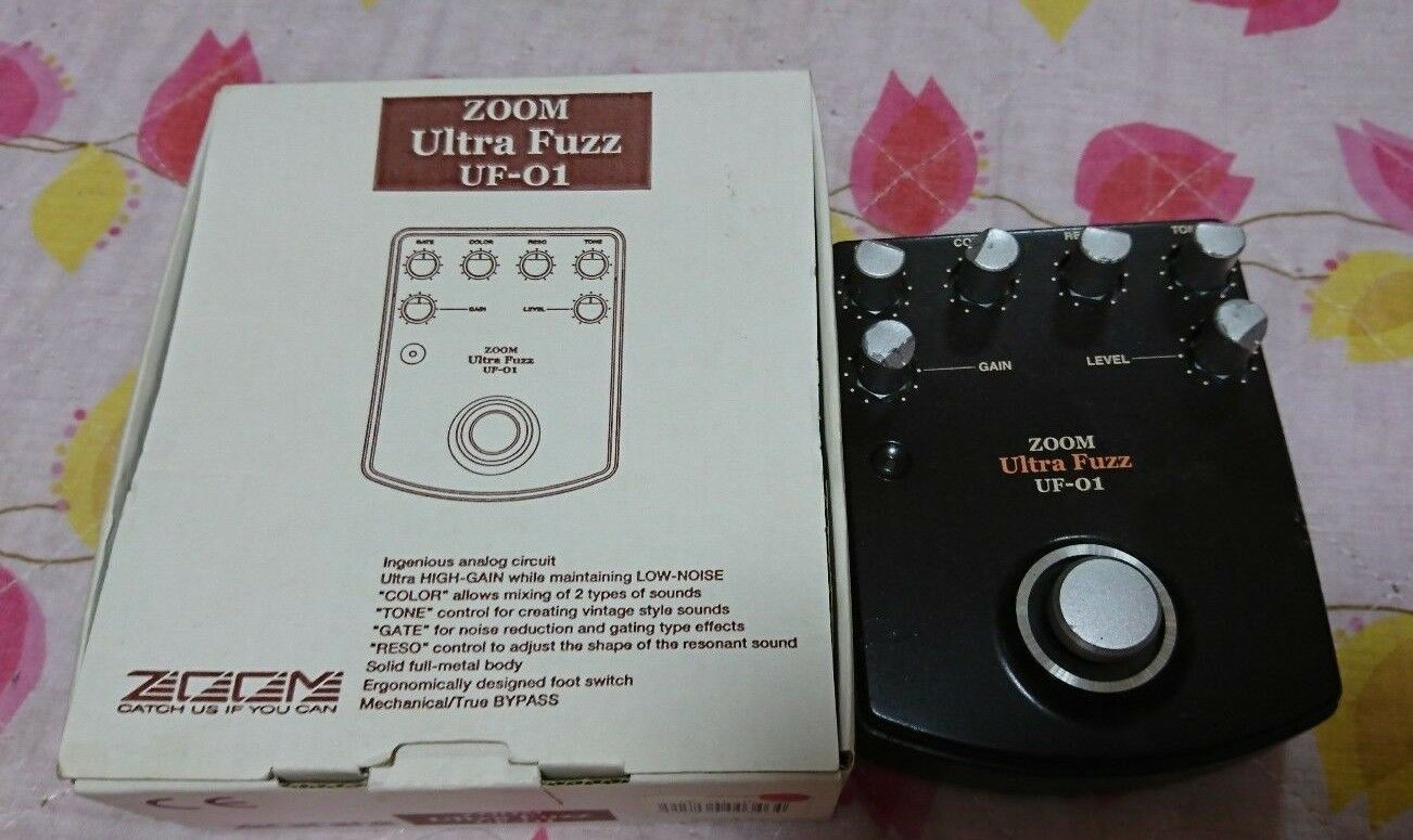 Very Rare ZOOM UF-01 ULTRA FUZZ Guitar Effect Pedal Japan F/S