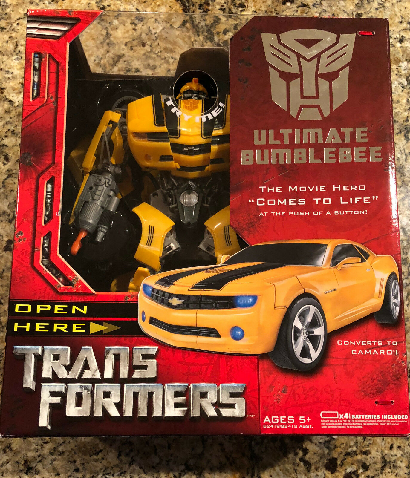 Transformers Ulitimate Bumblebee - New in box - Stands over 14