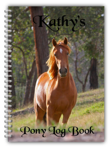 A5 PONY RIDER GIRL BOY PERSONALISED LOGBOOK PONY CLUB RIDING EQUESTRIAN 50 PAGES