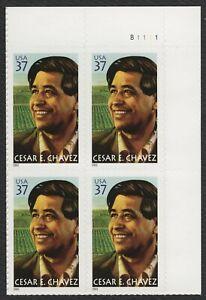 #3781 CESAR Chavez, Placa Bloque [B1111 Ur ] Nuevo Cualquier 5=