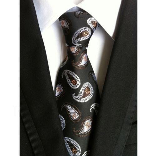 Homme Classique 100/% Soie Motif Cachemire Floral Jacquard Tissé Cravate Mariage Cravates NEUF