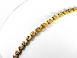 Genuine-Diamonds-Tennis-Link-Bracelet-Gold-Over-Solid-Sterling-Silver-Vermeil-7