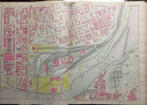 ORIG 1895 POWELTON VILLAGE FAIRMOUTH PARK /& RESERVOIR PHILADELPHIA PA ATLAS MAP