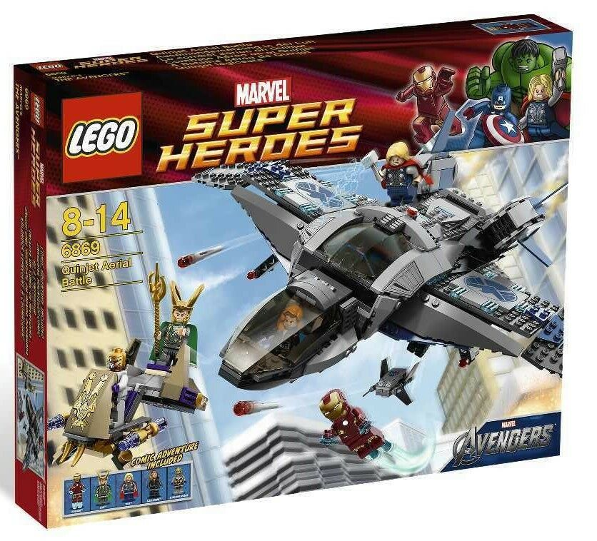 LEGO® 6869 Quinjet Battle Flugzeug Shuttle Jet Iron Loki Thor Neu OVP 6868 6873