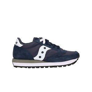 buy online e44e8 039bf Caricamento dell immagine in corso SAUCONY-JAZZ-sneakers-navy-scarpe-donna -ragazzo-mod-