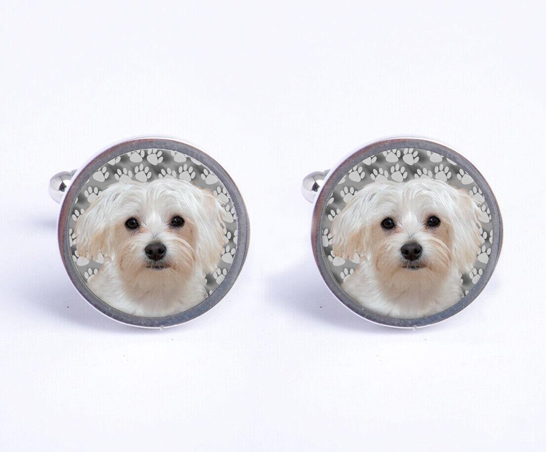 Maltese Dog Mens Cufflinks Ideal Birthday Wedding Gift With Cufflink Box C744
