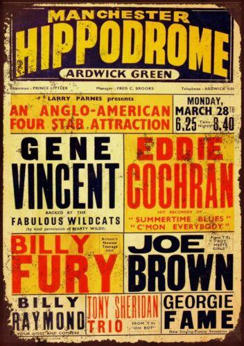 2 Gene Vincent Hippodrome Manchester Retro Vintage Metal Wall Sign