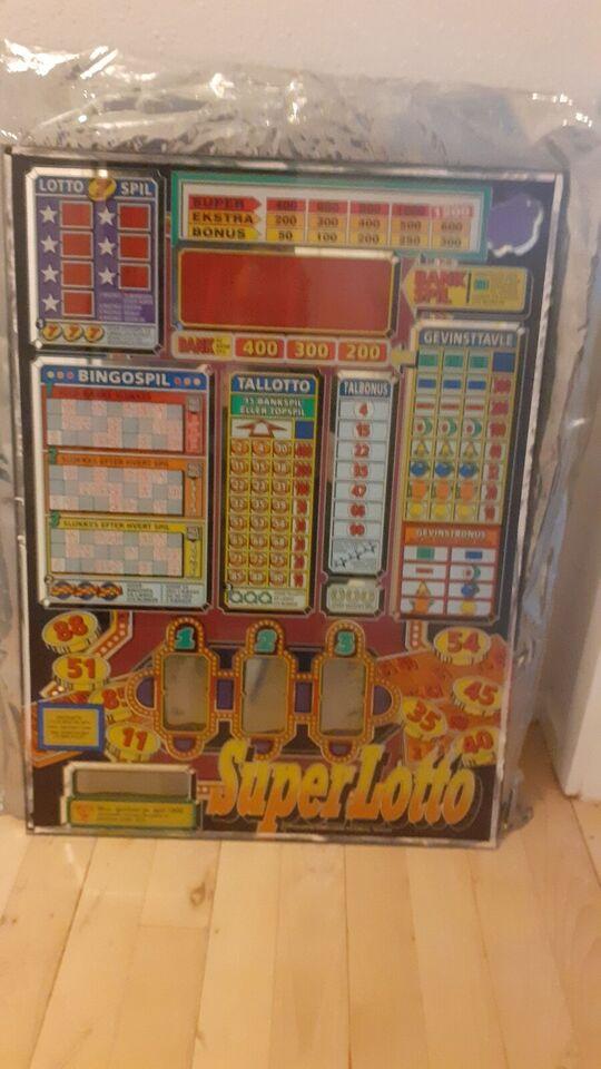 8 Stk bla glas, spilleautomat, God